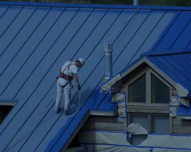 Покраска крыши